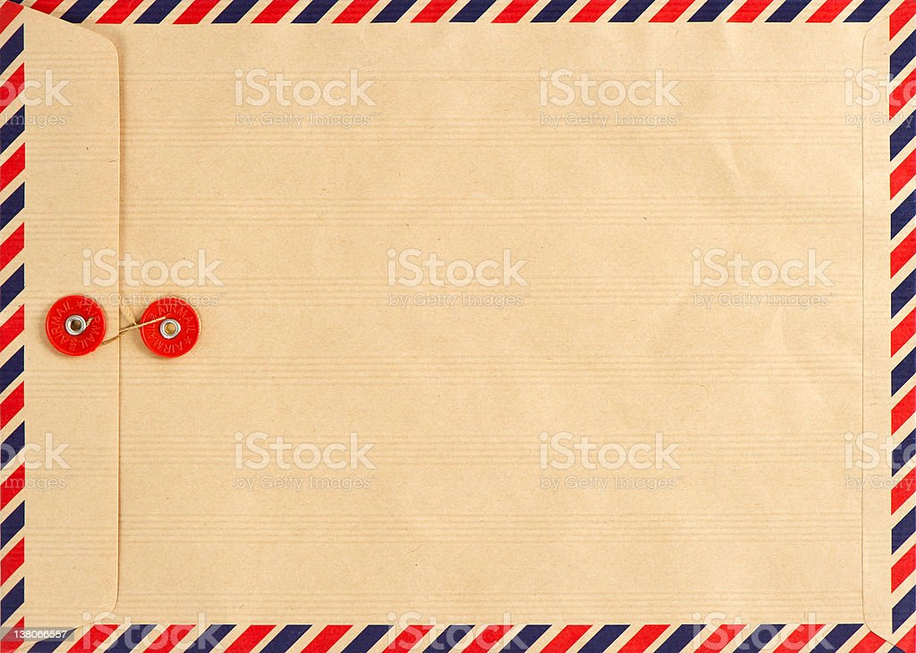 vintage airmail envelope stock photo