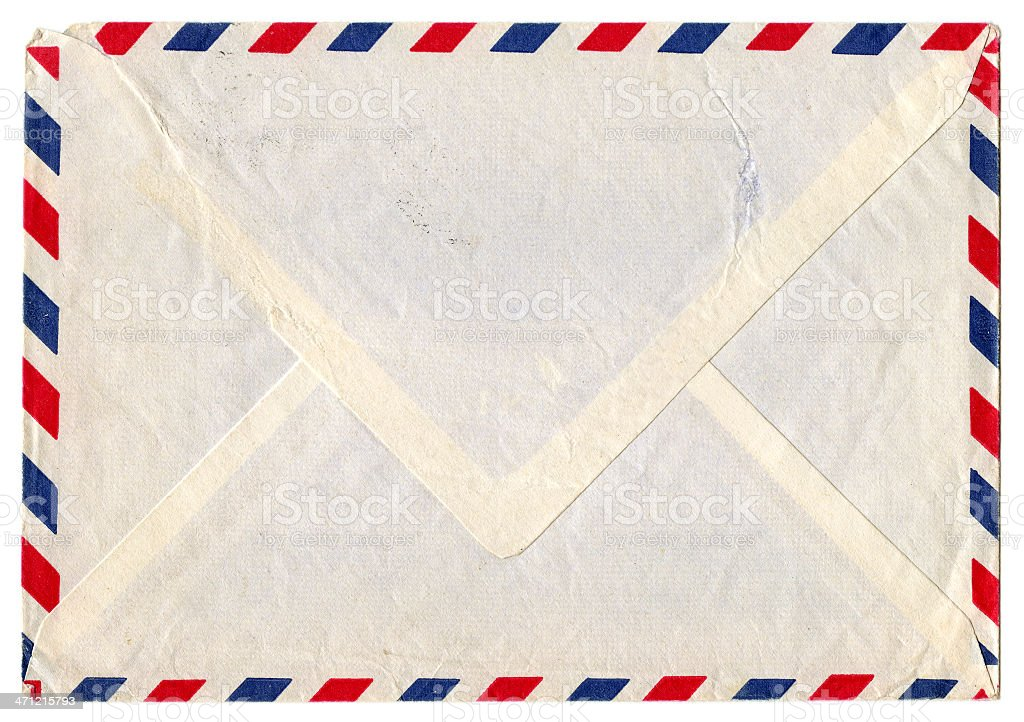 Vintage airmail envelope royalty-free stock photo