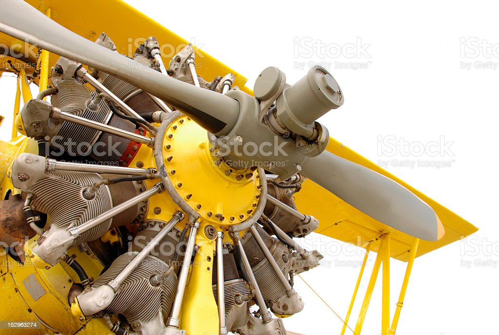 Vintage airplane engine royalty-free stock photo