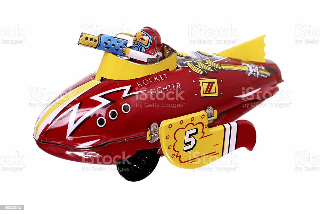 vintage airplane toy royalty-free stock photo
