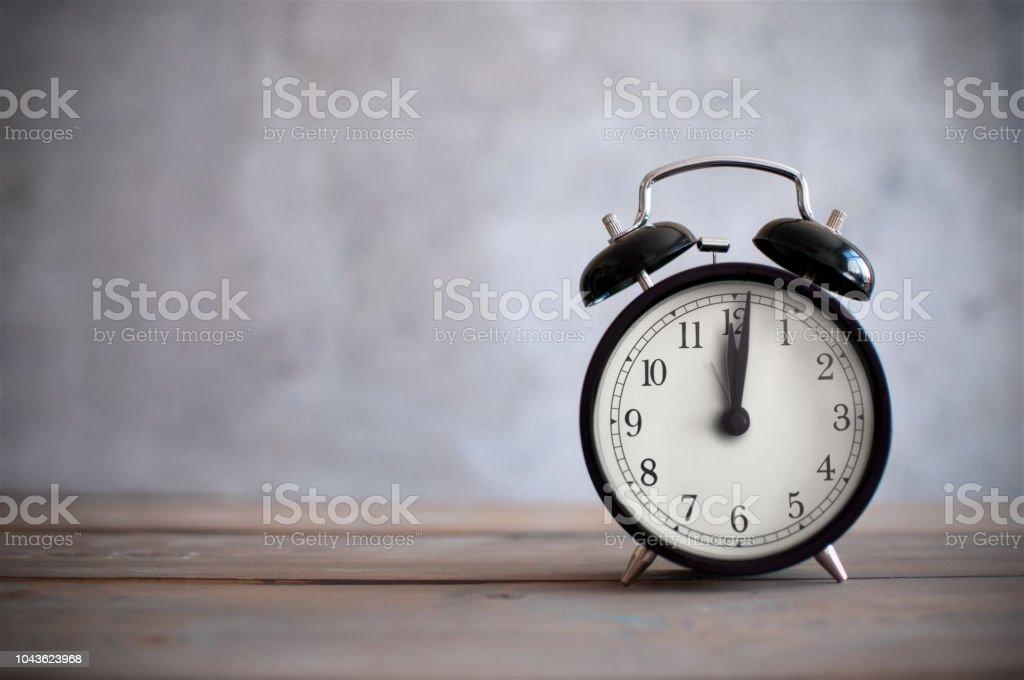 Vintage alarm clock stock photo
