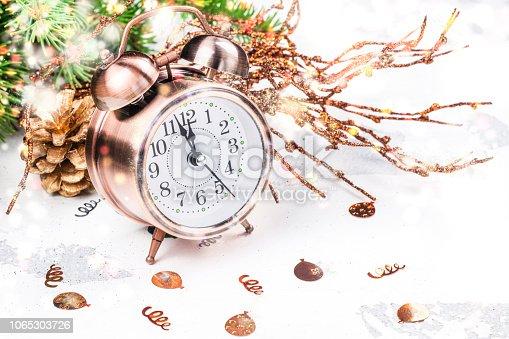 istock Vintage alarm o'clock 1065303726