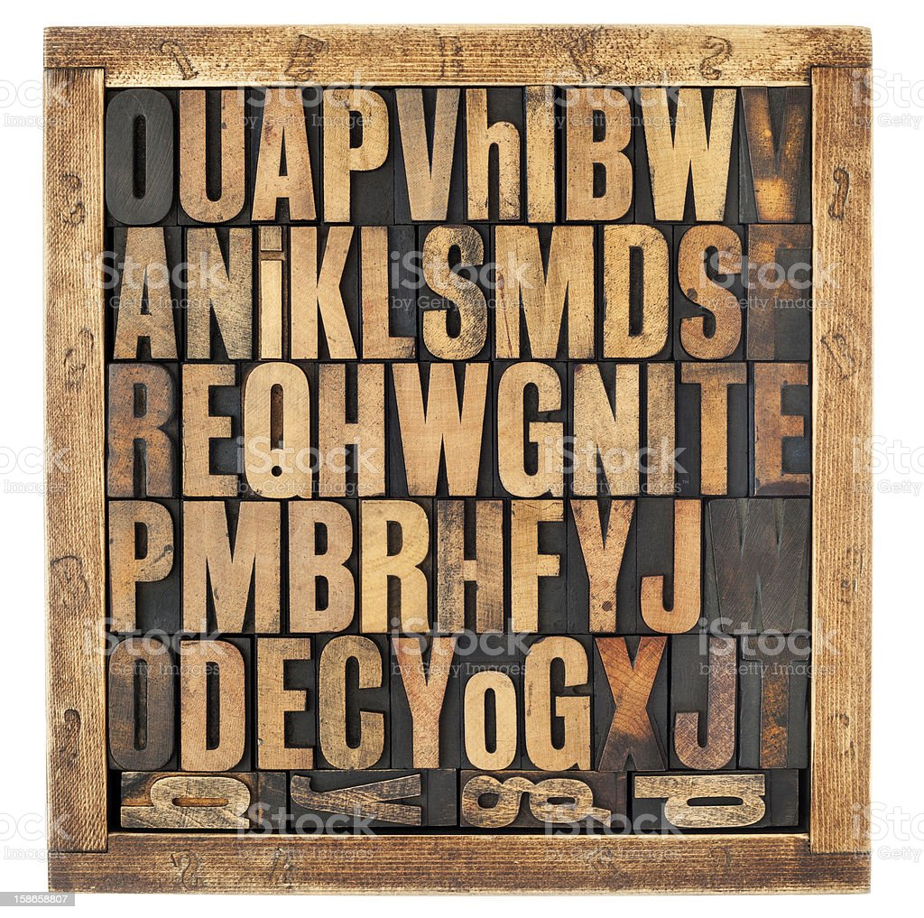 vintage alphabet letters stock photo