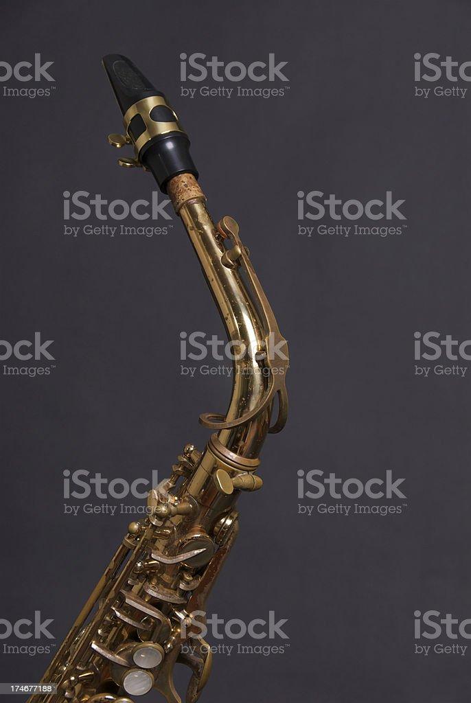 Vintage Alto Saxophone stock photo