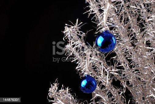 istock Vintage Aluminum Christmas Tree 144876331