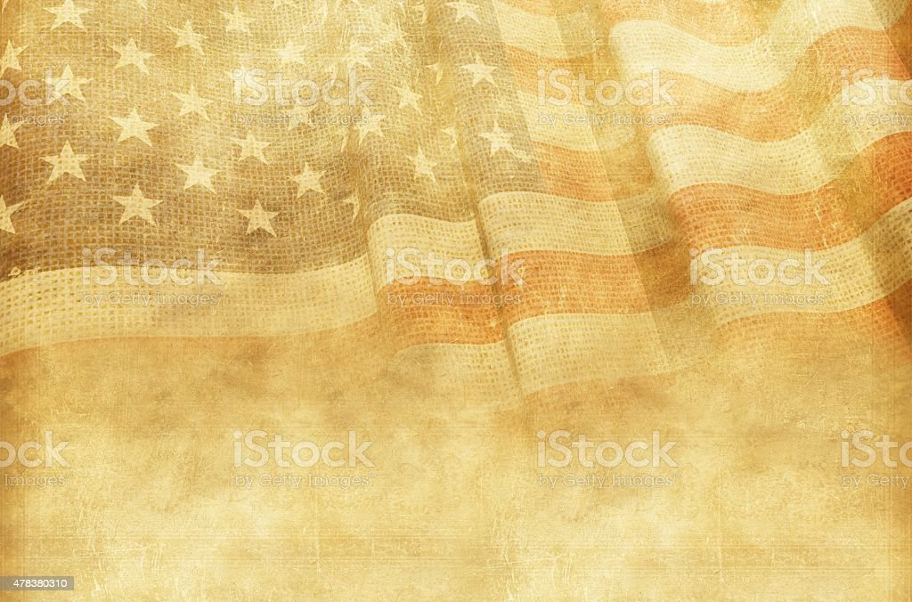 Vintage American Background stock photo