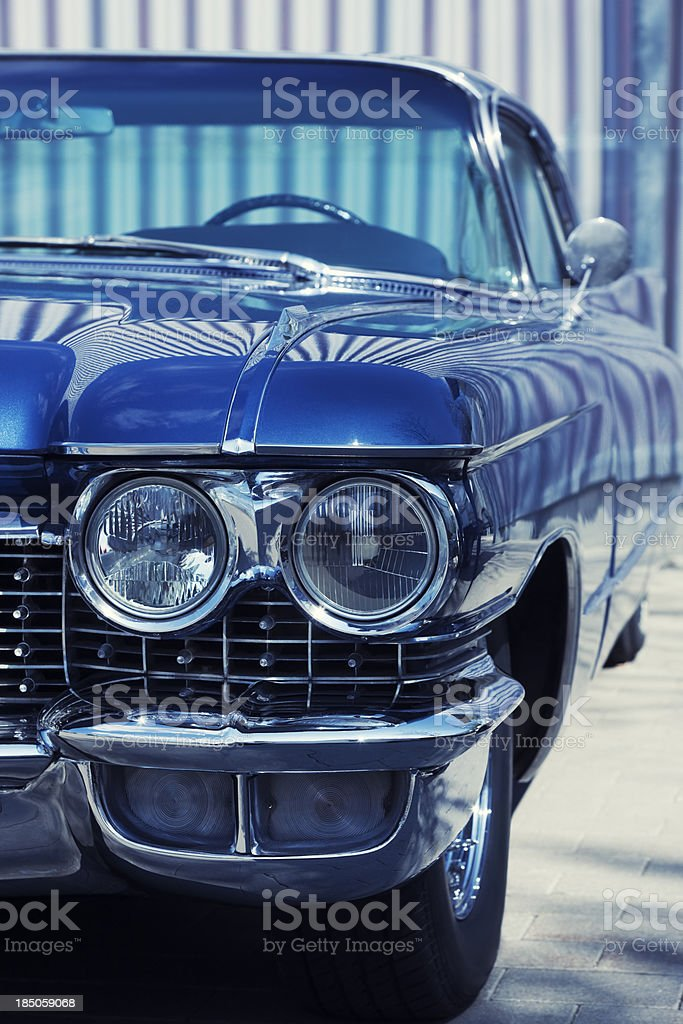 Vintage American Car Front Detail stock photo