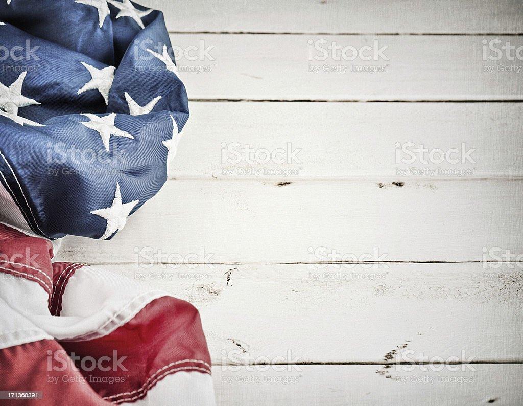 Vintage American Flag Background stock photo