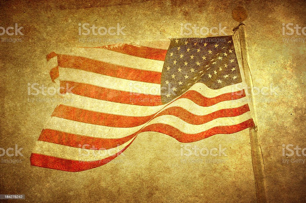 american flag / presented in vintage way / good old usa