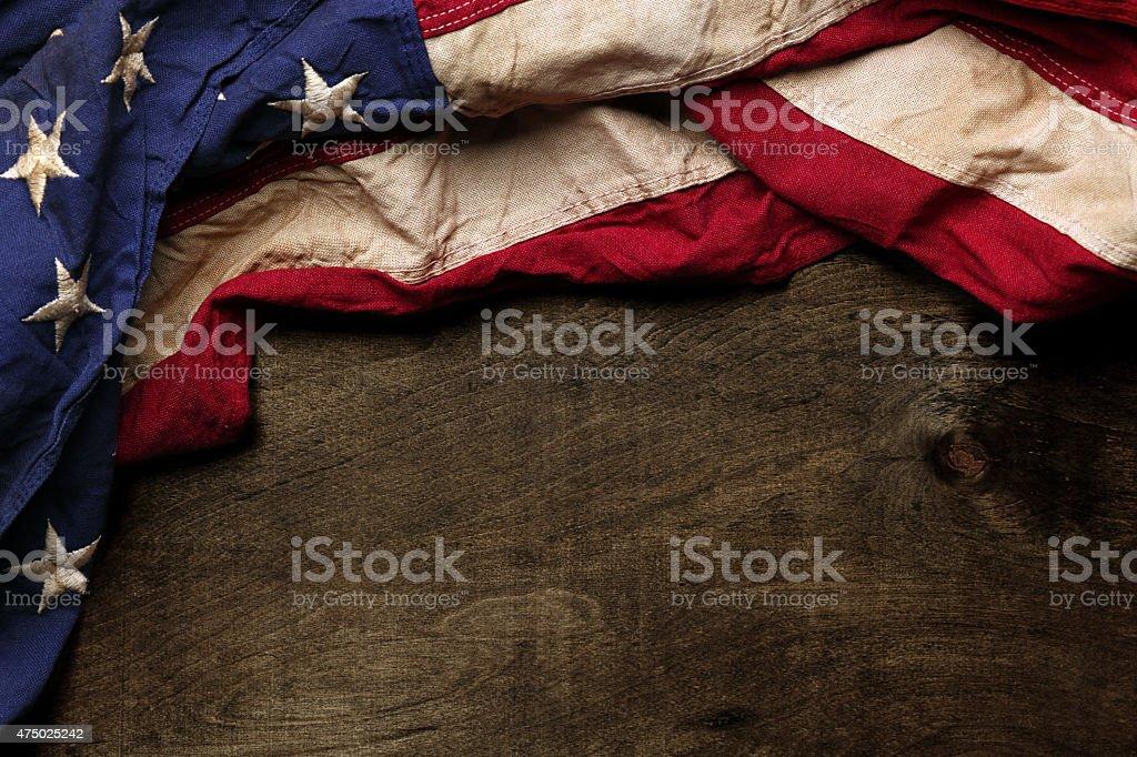 Vintage American flag stock photo