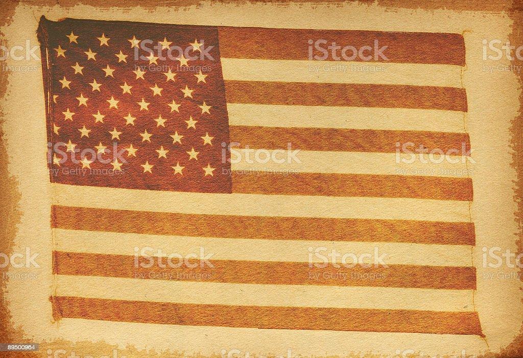 ビンテージアメリカの国旗 ロイヤリティフリーストックフォト