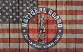 istock vintage american flag with national guard insignia 1189800695