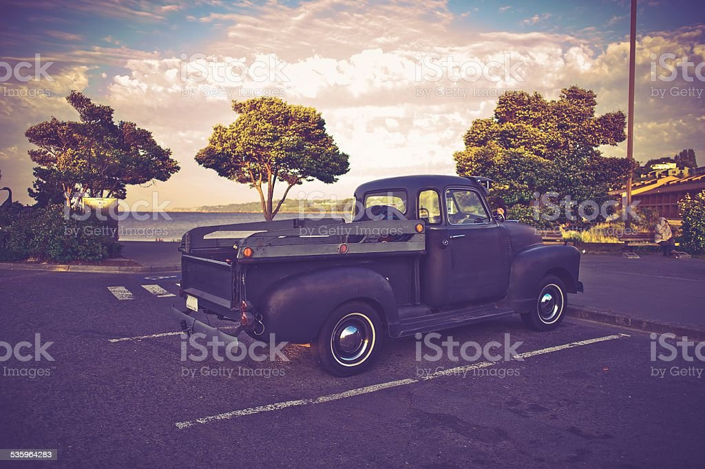 Vintage American Pickup stock photo