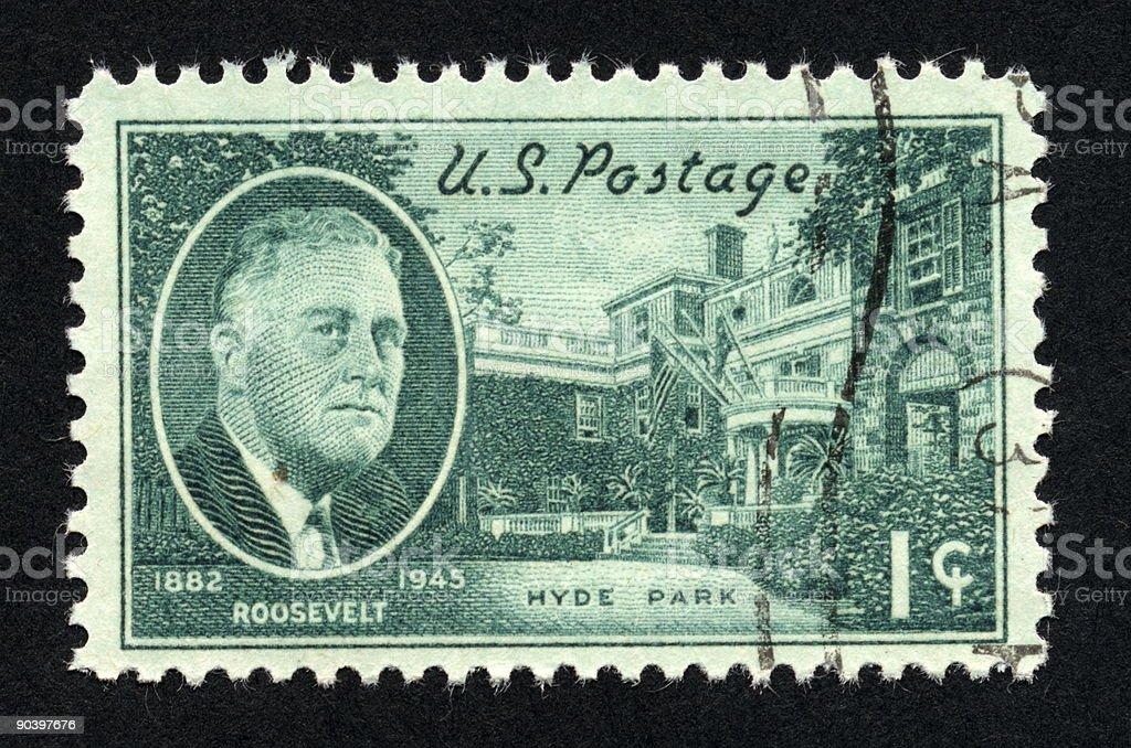 Vintage American Stamp 1945, Ephemera. stock photo