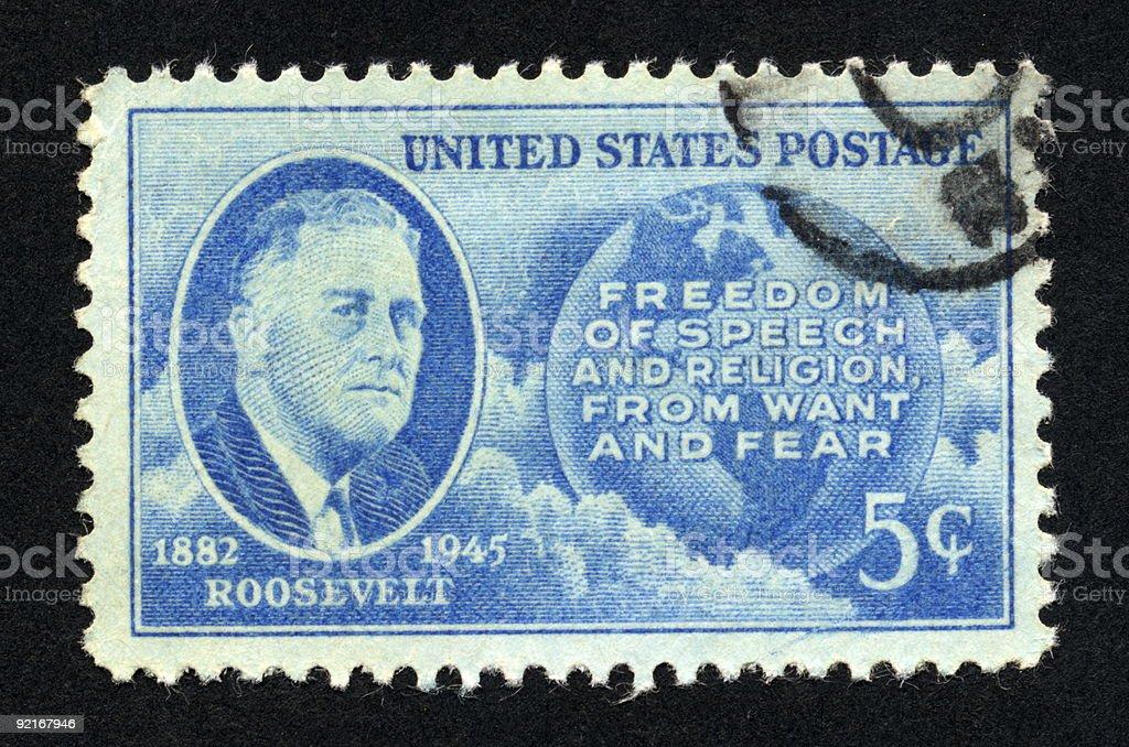 Vintage American Stamp 1946, Ephemera. stock photo