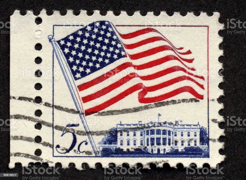 Vintage American Stamp, Ephemera. stock photo
