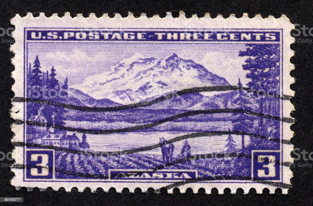 Vintage American Stamp, Ephemera. royalty-free stock photo