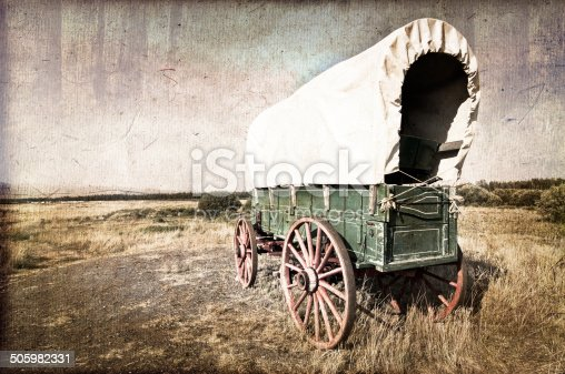 Vintage american western wagon