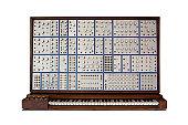 istock Vintage analog modular synthesizer 125880377