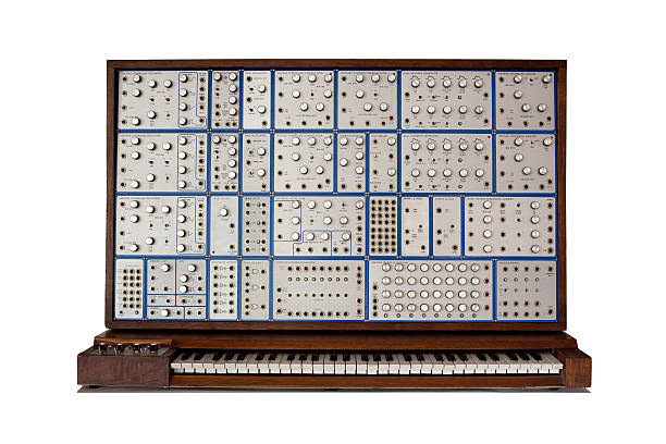 Vintage analog modular synthesizer  synthesizer stock pictures, royalty-free photos & images