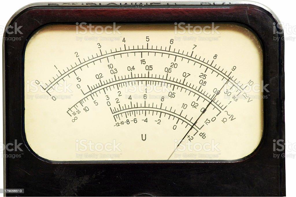 Vintage analog scale royalty-free stock photo