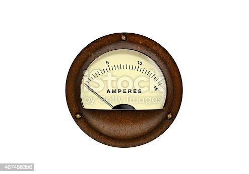 Vintage analog scale isolated on a white background