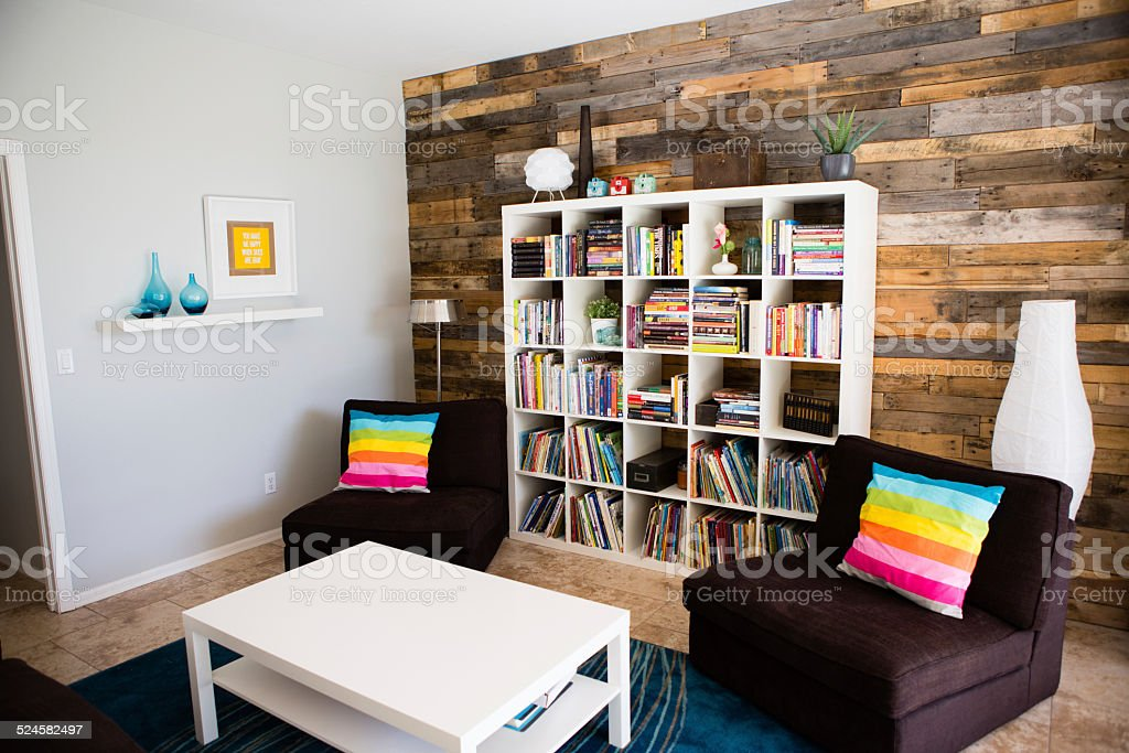 Vintage and Modern Living Room Home Interior Design stock photo