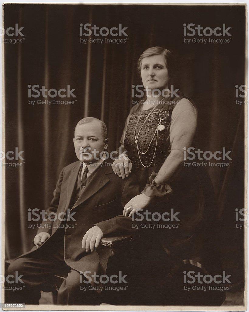 Vintage Anniversary Portrait royalty-free stock photo