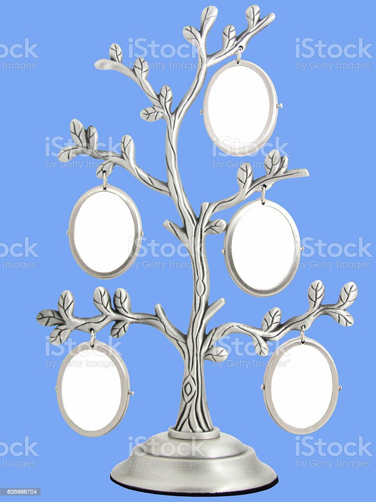 vintage antique classical frame of family tree stock photo