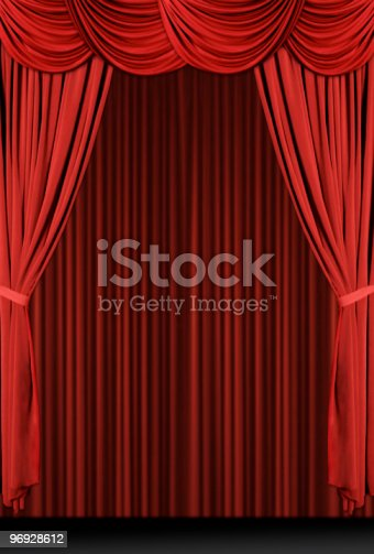 istock Vintage Antique Draped Theatre Curtains 96928612