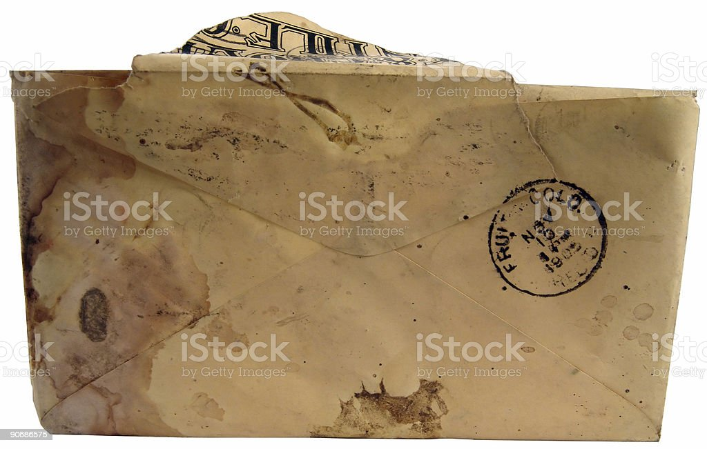 vintage antique postal envelope royalty-free stock photo