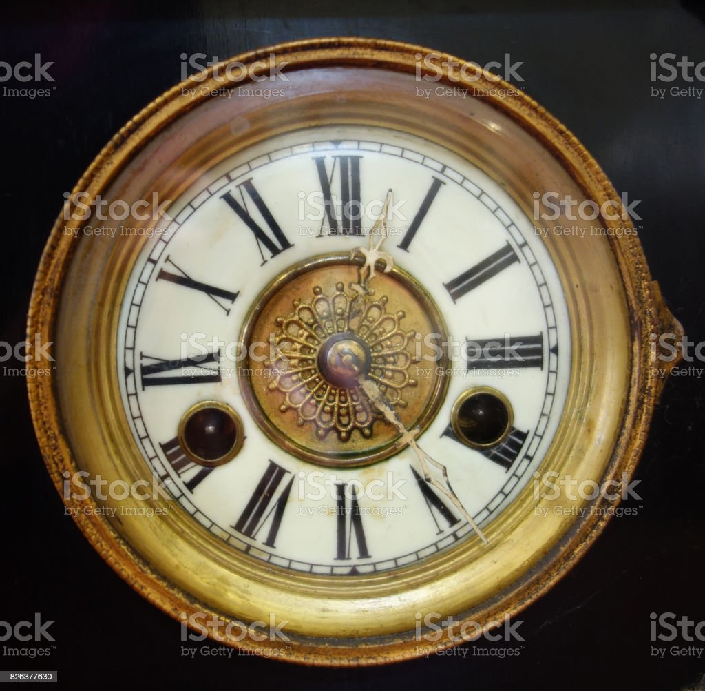 Vintage Antique Retro Clock stock photo