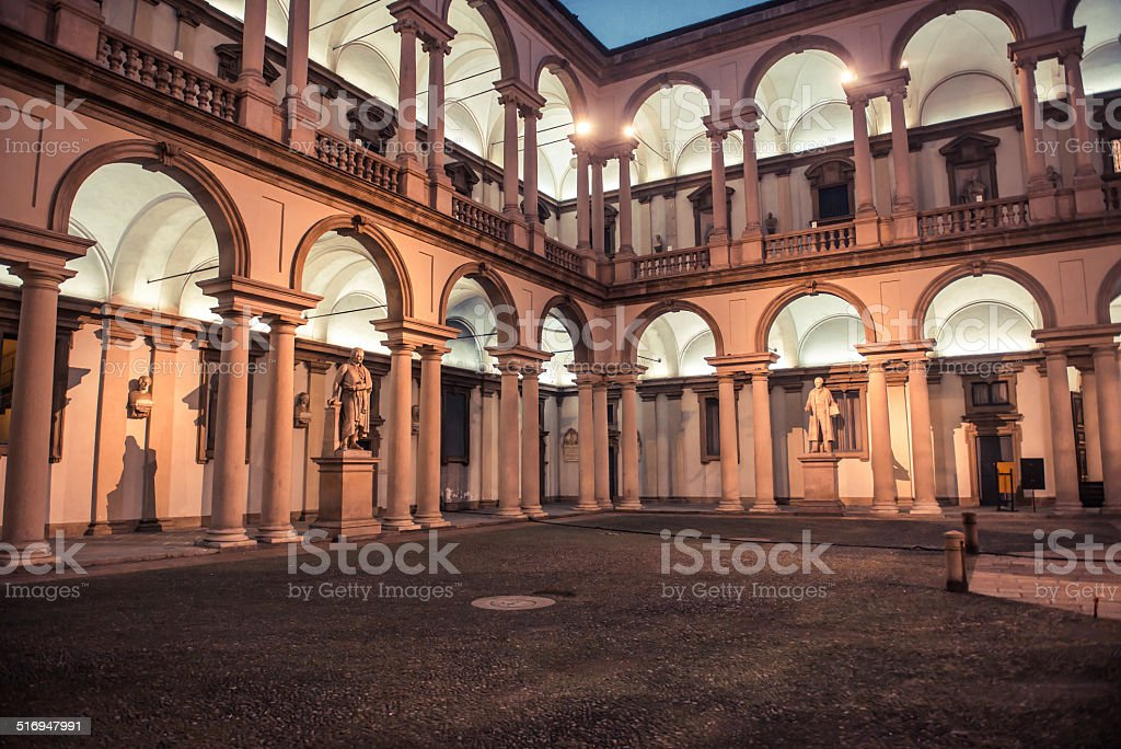 vintage antique style courtyard in the monuments and columns stock photo