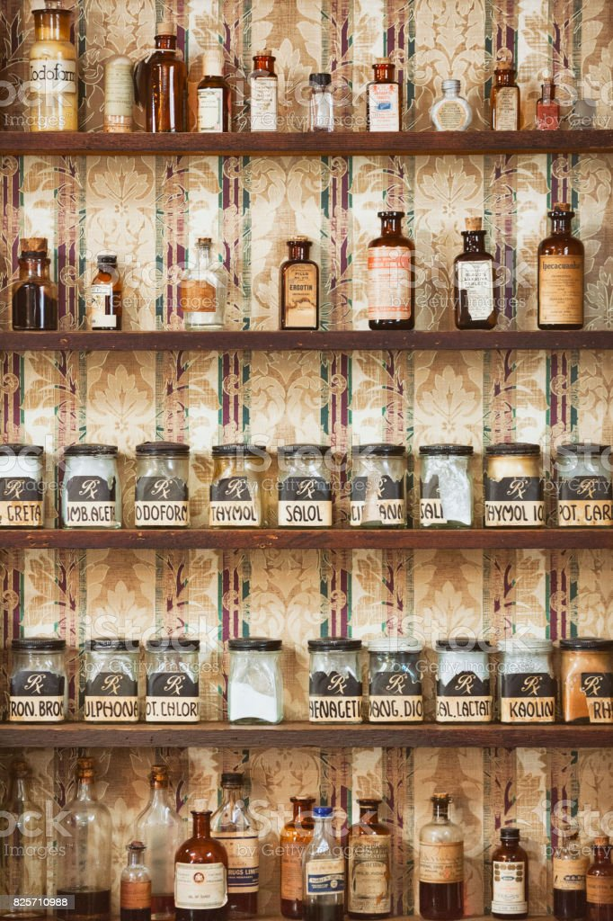 Vintage Apothecary Medicine stock photo