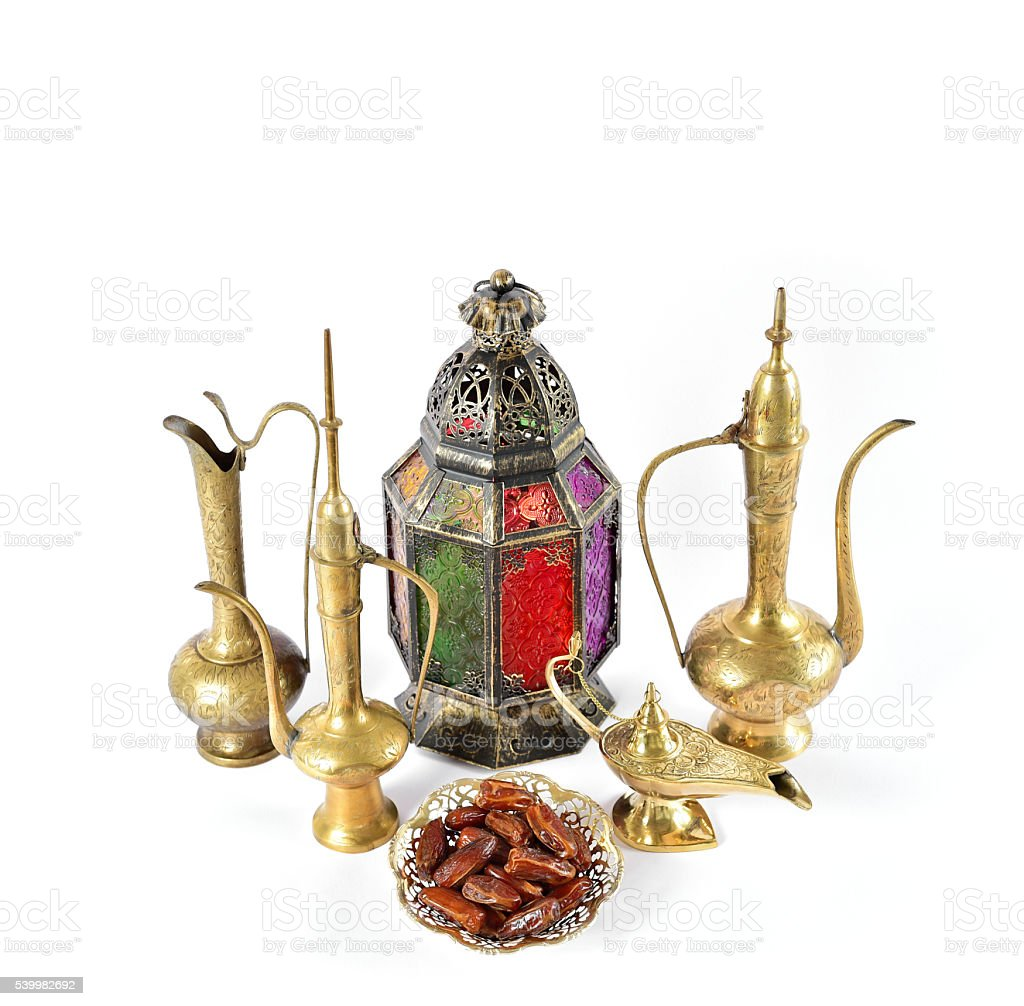 Vintage arabic decorations Oriental hospitality Ramadan stock photo