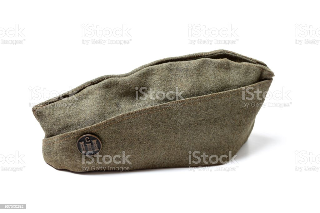 Vintage Army Service Cap stock photo