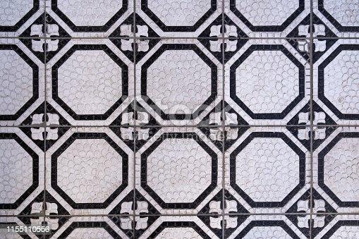istock Vintage art nouveau style floor tiles textured pattern background 1155110556