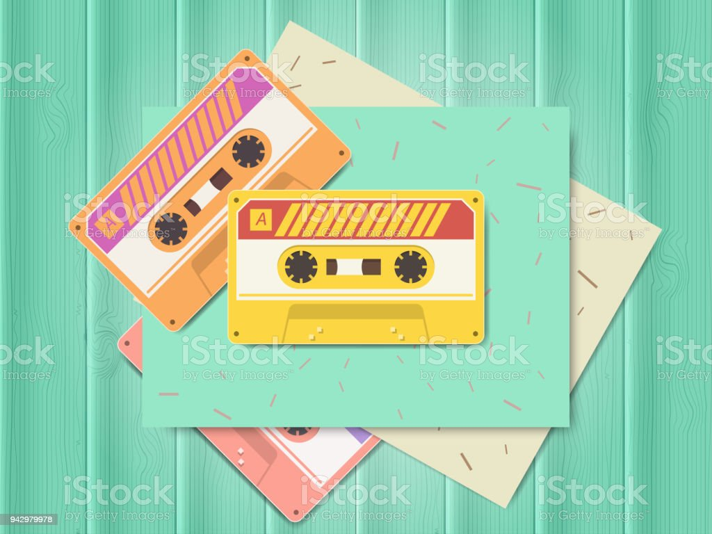 Vintage audio cassette music of the 80s and 90s – zdjęcie