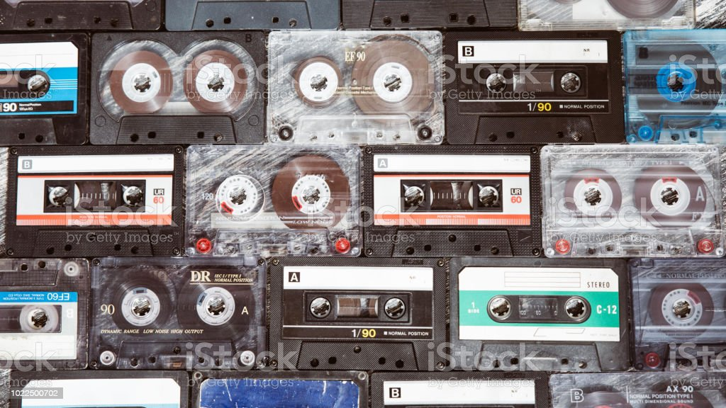 Collection of various retro audio tapes