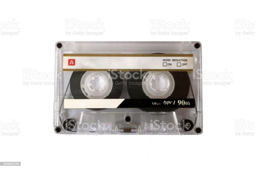 Vintage audio cassette stock photo