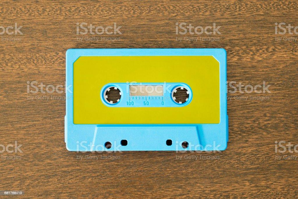 Vintage audio cassette tape stock photo