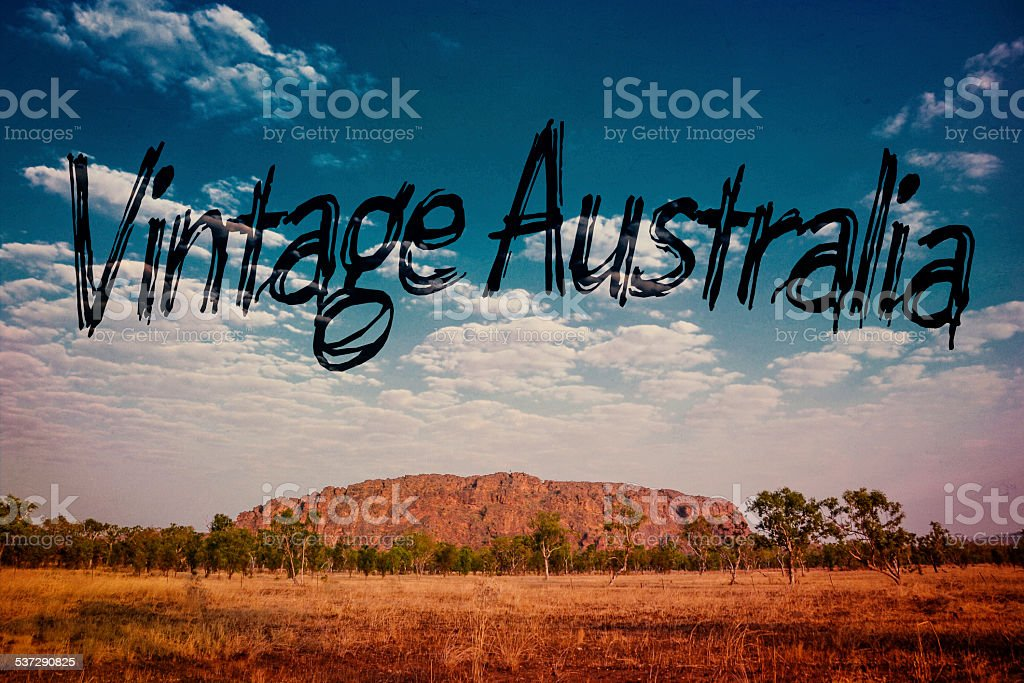 vintage australia royalty-free stock photo
