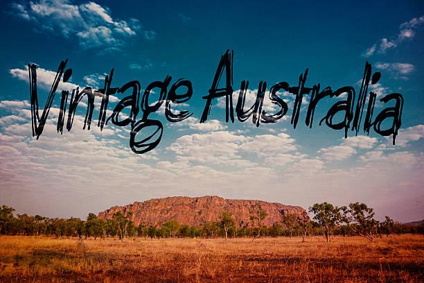 vintage australia stock photo