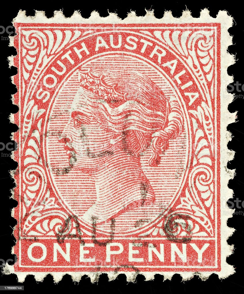 Vintage Australia Postage Stamp royalty-free stock photo