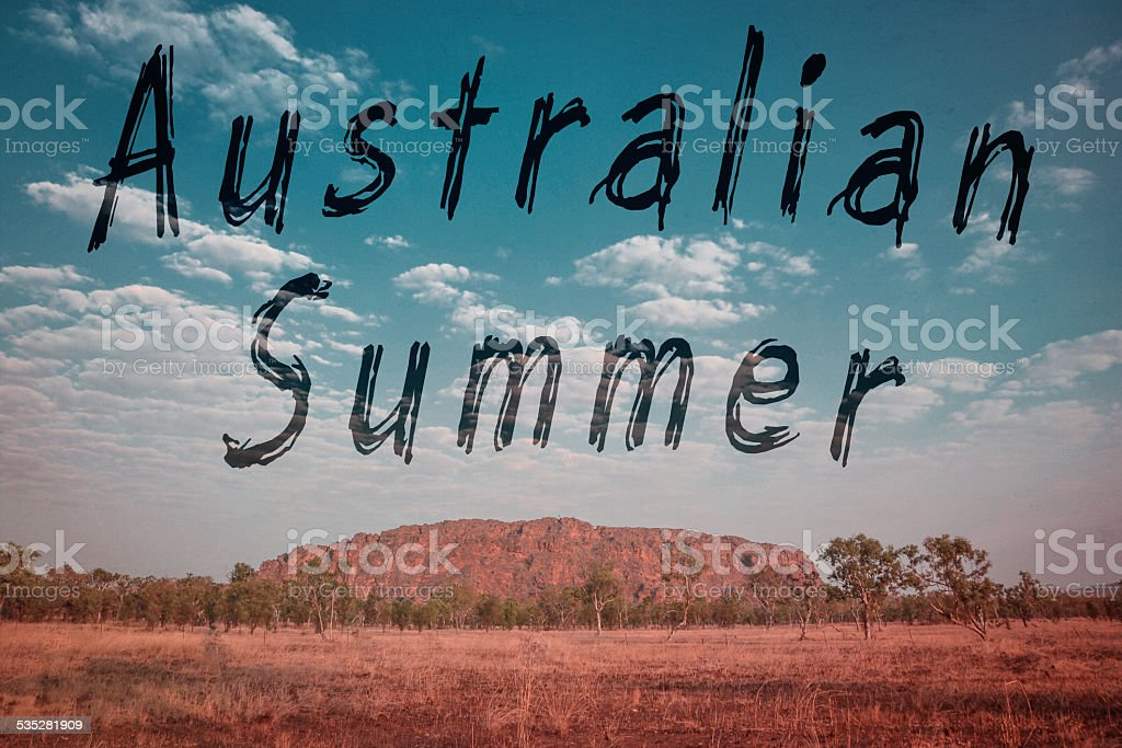 vintage australia summer royalty-free stock photo