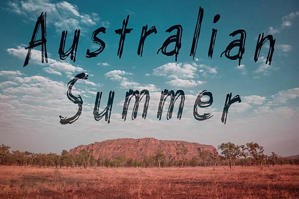 vintage australia summer stock photo