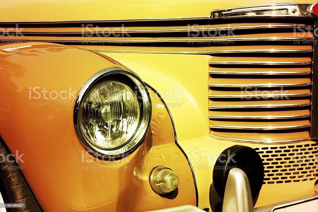 vintage automobile headlight stock photo