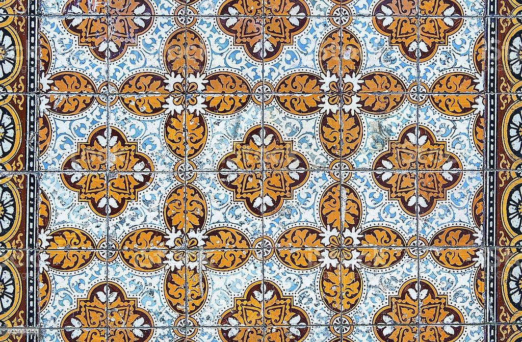 Vintage azulejos, ladrilhos tradicional Portuguesa - fotografia de stock