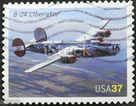 vintage B 24 Liberator bomber