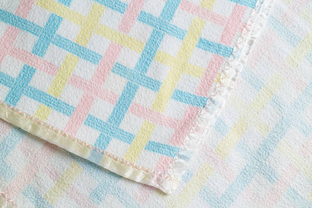 Vintage Baby Blanket stock photo